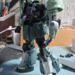 1/144 MS-06R ZAKU II (旧MSVシリーズ+RGザクのニコイチ作品)その参