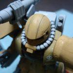 デザート仕様のザクは墨入れするとカッコ良い説 HG ザク・ハーフキャノン(MS-06CK ZAKU HALF CANNON)