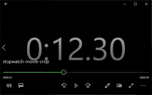 ムービーメーカーを使ってストップウォッチ動画を作成