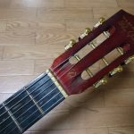 フォークギターにエレキギターの弦を張ってみた
