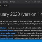 VisualStudioCode 1.43 気になった機能レビュー