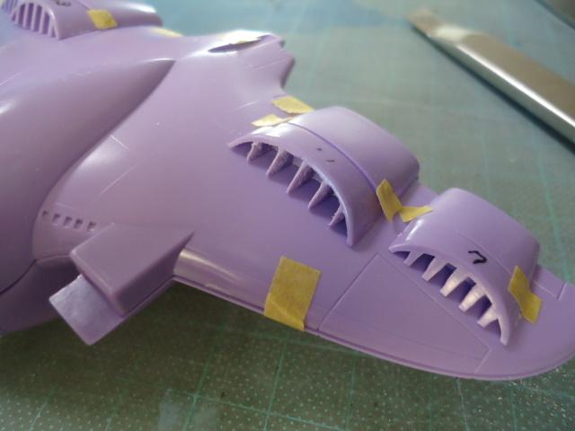 1/1200 ジオン軍 ガウ攻撃空母 製作記 3(エアインテーク部の削り出し)