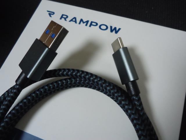 RAMPOW USB Type C ケーブル(RAMPOWJP-T01)レビュー