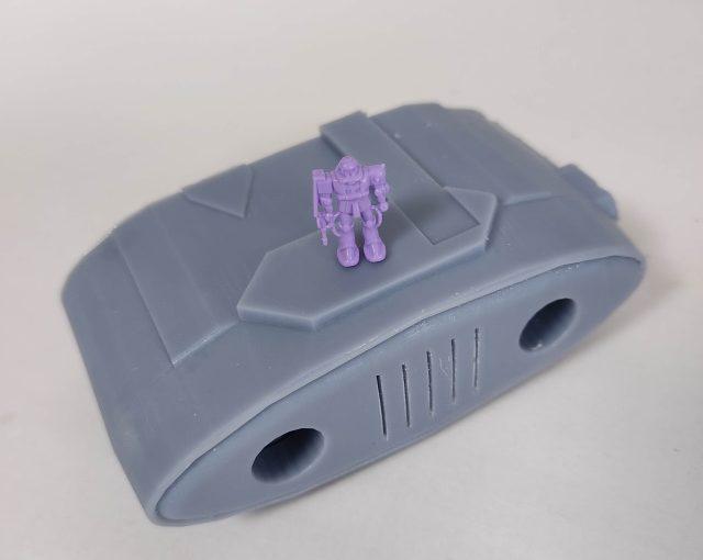 3Dプリンター 1/1200 ムサイ改型ワルキューレ 製作日誌(4日目)機関部の印刷(中編)