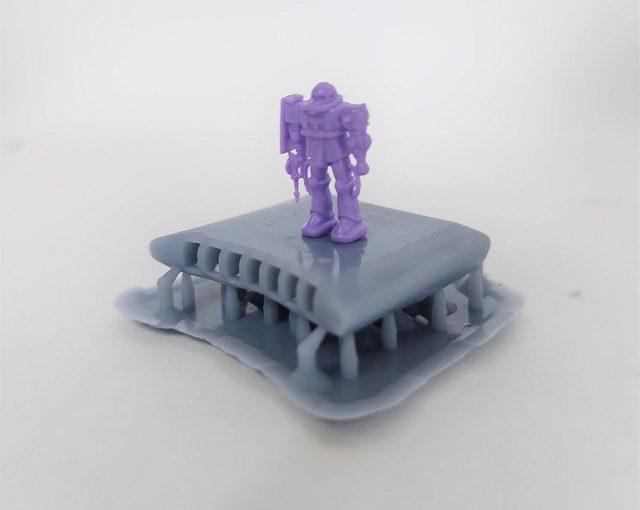 3Dプリンター 1/1200 ムサイ改型ワルキューレ 製作日誌(8日目)第三艦橋の印刷
