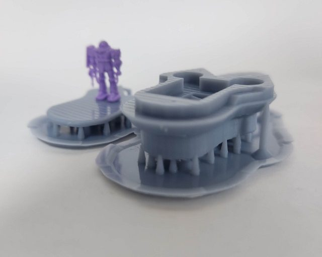 3Dプリンター 1/1200 ムサイ改型ワルキューレ 製作日誌(9日目)第二艦橋の印刷