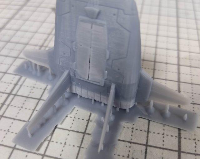 3Dプリンター 1/1200 ムサイ改型ワルキューレ 製作日誌(1日目)