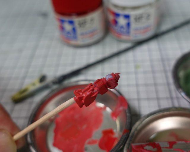 3Dプリンター 1/1200 MS-06 ザクII ORGIN版 製作日誌(4日目)筆塗り塗装