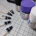 3Dプリンター 1/1200 黒い三連星 MS-06R 高機動型 ザクII ORGIN版 製作日誌(2日目)塗装
