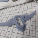 3Dプリンター 1/1200 ムサイ改型ワルキューレ 製作日誌(19日目)第1艦橋の修正