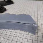 3Dプリンター 1/1200 ムサイ改型ワルキューレ 製作日誌(20日目)艦橋前部分の修正