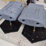 3Dプリンター 1/1200 ムサイ改型ワルキューレ 製作日誌(22日目)ディスプレイ用の足場