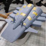 3Dプリンター 1/1200 ムサイ改型ワルキューレ 製作日誌(23日目)船首部分の組立て(後編)