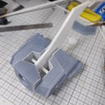 3Dプリンター 1/144 モビルダイバー ゼーゴック製作日誌(10日目)バインダー(尾翼)の取付