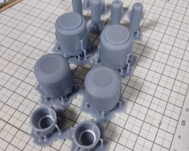 3Dプリンター 1/144 モビルダイバー ゼーゴック製作日誌(5日目)懸架パイロンの制作(前編)