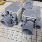 3Dプリンター 1/144 モビルダイバー ゼーゴック製作日誌(4日目)ダイブ・マヌーバ・ユニットの制作(後編)