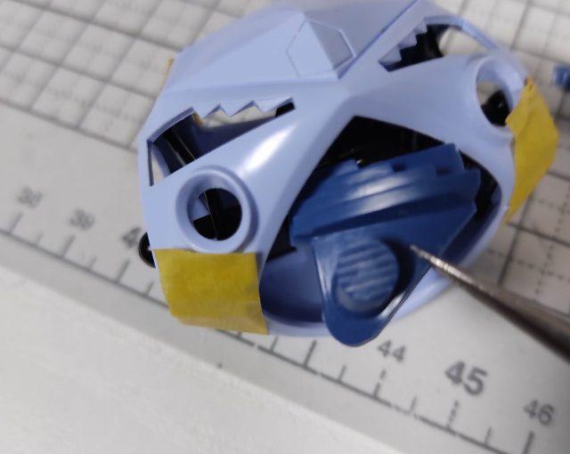 3Dプリンター 1/144 モビルダイバー ゼーゴック製作日誌(7日目)ズゴックの後ハメ加工