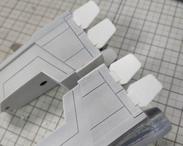 3Dプリンター 1/144 モビルダイバー ゼーゴック製作日誌(16日目)プラ板でスタビライザー工作