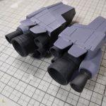 3Dプリンター 1/144 モビルダイバー ゼーゴック製作日誌(19日目)ダイブ・マヌーバー・ユニットの組立て