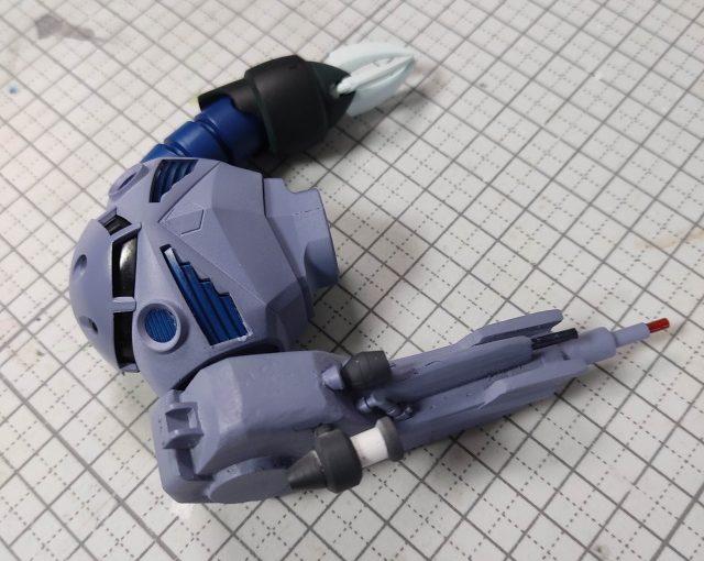 3Dプリンター 1/144 モビルダイバー ゼーゴック製作日誌(23日目)右腕センサー部分の取付け