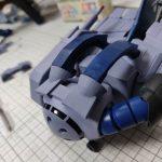 3Dプリンター 1/144 モビルダイバー ゼーゴック製作日誌(24日目)バックパック部分の取付け