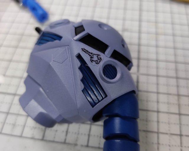 3Dプリンター 1/144 モビルダイバー ゼーゴック製作日誌(26日目)自作デカールで「笑うノコギリ鮫」マーキング