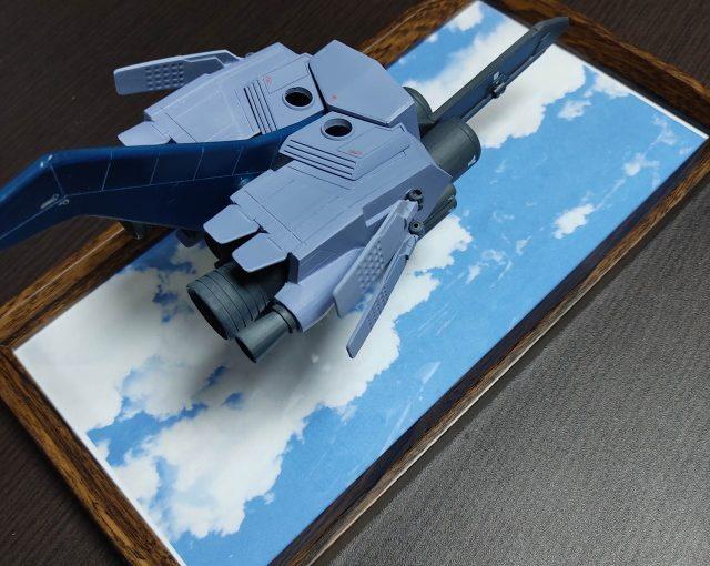 3Dプリンター 1/144 モビルダイバー ゼーゴック製作日誌(27日目)100均のフォトフレームでディスプレイベースを制作
