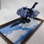 3Dプリンター 1/144 モビルダイバー ゼーゴック製作日誌(28日目)ディスプレイベースで飛行シーンを再現