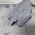 3Dプリンター 1/1200 ムサイ改型ワルキューレ 製作日誌(28日目)船首部分の組立て(中編)