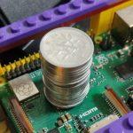 Raspberry 3 Model B+で1円玉でヒートシンクを代用する