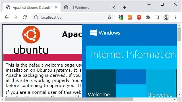 WSL2でApache2とIISを共存させる方法