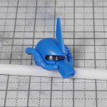 1/144 HG改造 MS-07B マ・クベ専用グフ製作日誌(1日目)リバイブ版グフの頭部比較