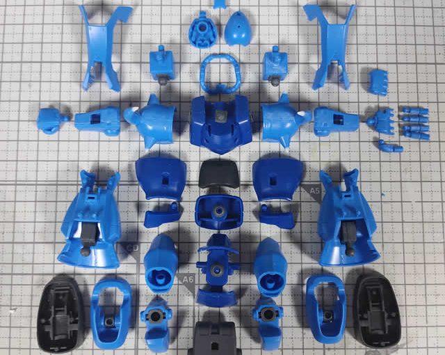 1/144 HG改造 MS-07B マ・クベ専用グフ製作日誌(8日目)各パーツのゲート処理