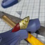 1/144 HG改造 MS-07B マ・クベ専用グフ製作日誌(21日目)ネイルシールで装飾(前編)