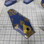 1/144 HG改造 MS-07B マ・クベ専用グフ製作日誌(22日目)ネイルシールで装飾(中編)
