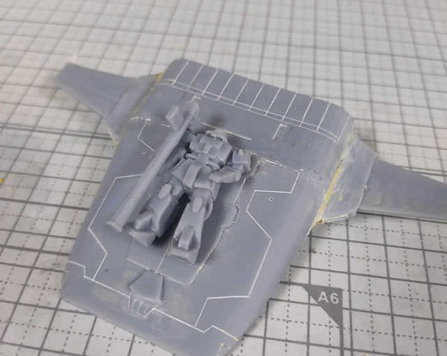 3Dプリンター ムサイ改型ワルキューレ 製作日誌(29日目)コムサイの表面処理