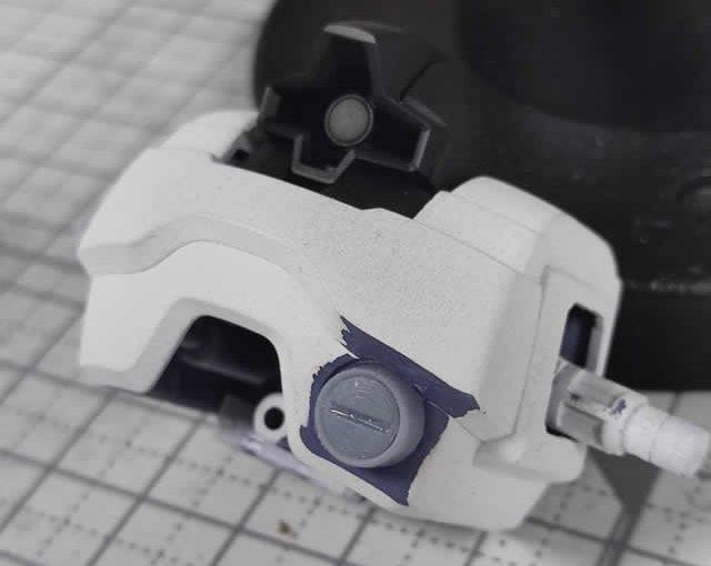1/144 HG改造 MS-09R ドズル・ザビ専用ドム製作日誌(15日目)拡散ビーム砲の造形