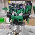 1/144 HG改造 MS-09R ドズル・ザビ専用ドム製作日誌(18日目)胸部の塗り分け塗装