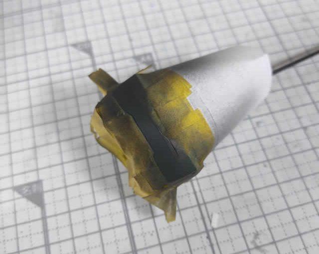 1/144 HG改造 MS-09R ドズル・ザビ専用ドム製作日誌(20日目)金色塗装前の黒サフ