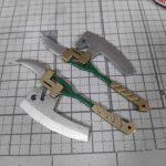 1/144 HG改造 MS-09R ドズル・ザビ専用ドム製作日誌(22日目)大型ヒートホークの塗り分け