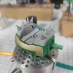 1/144 HG改造 MS-09R ドズル・ザビ専用ドム製作日誌(25日目)肩パーツのスパイク追加