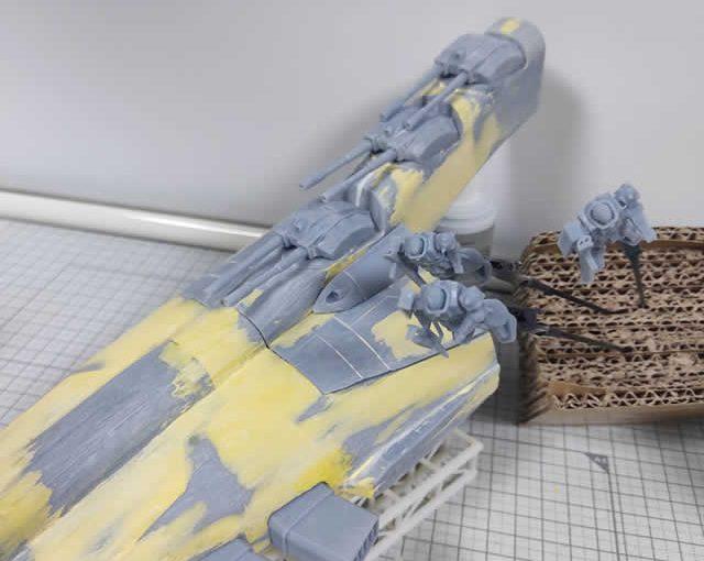 3Dプリンター ムサイ改型ワルキューレ 製作日誌(31日目)ポリパテで合わせ目消しと平面化(続き)