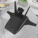 3Dプリンター ムサイ改型ワルキューレ 製作日誌(33日目)コムサイの塗装