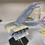 3Dプリンター ムサイ改型ワルキューレ 製作日誌(36日目)右側機関部分の表面処理