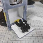 3Dプリンター ムサイ改型ワルキューレ 製作日誌(41日目)モビルスーツハッチの取り付け