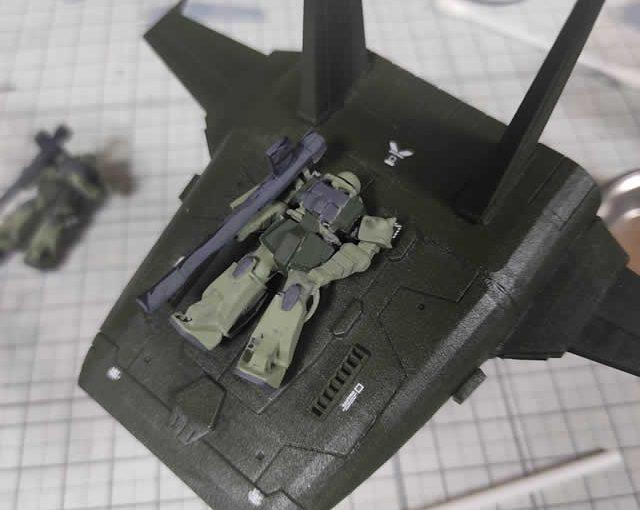 3Dプリンター ムサイ改型ワルキューレ 製作日誌(46日目)量産型ザクの筆塗り