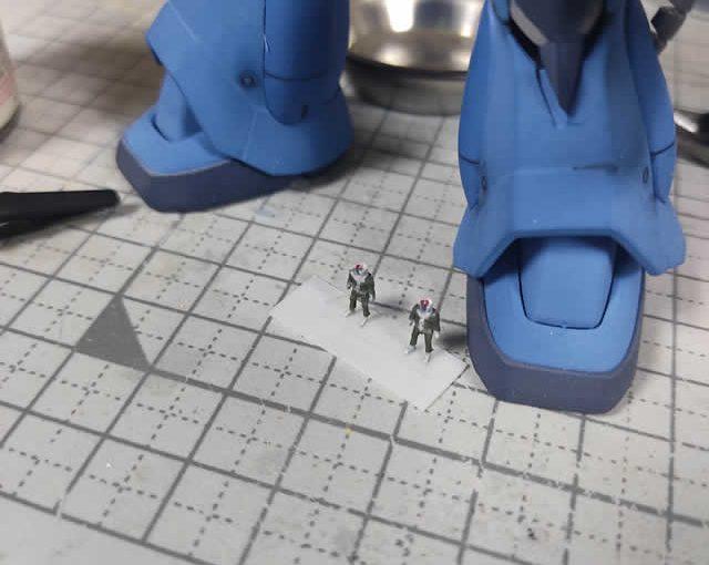3Dプリンター 1/144 ジオン兵 ノーマルスーツ 製作日誌(3日目)筆塗り塗装