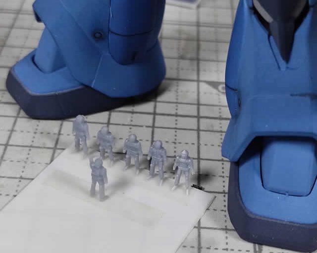 3Dプリンター 1/144 ジオン兵 ノーマルスーツ 製作日誌(4日目)ポーズ変更と造形物の追加