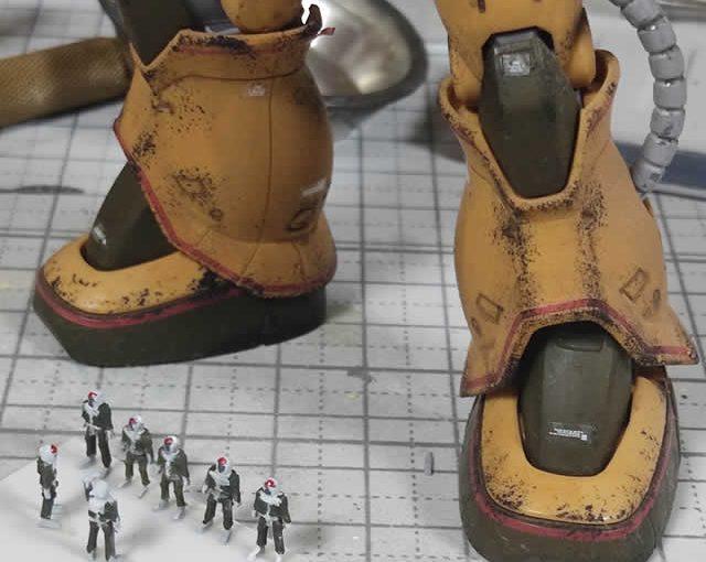 3Dプリンター 1/144 ジオン兵 ノーマルスーツ 製作日誌(5日目)塗装と配置