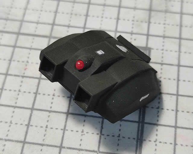 3Dプリンター ムサイ改型ワルキューレ 製作日誌(48日目)主砲センサー部分のディティールアップ